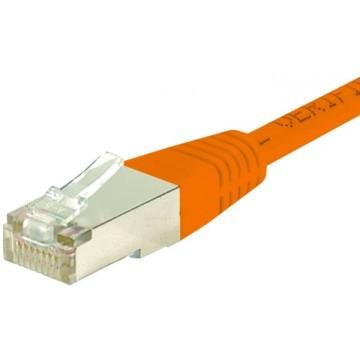 Cordon RJ45 catégorie 6 F/UTP orange - 15 m853337Cordon RJ45 catégorie 6 F/UTP orange - 15 m