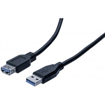 Rallonge éco USB  3.0 type A / A noire - 0,5 m532459